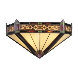 Filigree - 2 Light Wall Sconce in Traditional Style with Victorian and Mission inspirations - 7.5 Inches tall and 14 inches wide