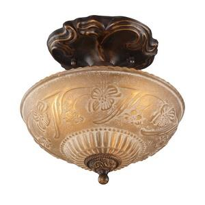Restoration Flushes - Three Light Semi-Flush Mount