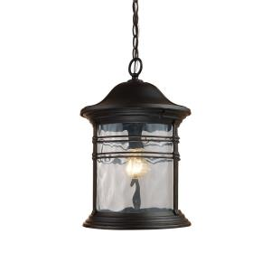 Madison - 1 Light Outdoor Hanging Lantern in Traditional Style with Southwestern and Country/Cottage inspirations - 17 Inches tall and 11 inches wide