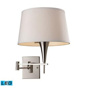 Swingarms - 9.5W 1 LED Swingarm Wall Sconce in Transitional Style with Art Deco and Country/Cottage inspirations - 16 Inches tall and 12 inches wide