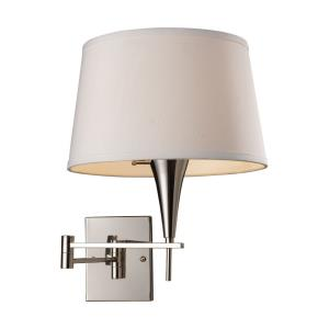 Swingarms - 1 Light Swingarm Wall Sconce in Transitional Style with Art Deco and Country/Cottage inspirations - 16 Inches tall and 12 inches wide