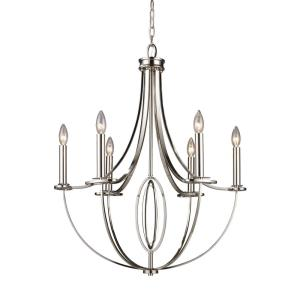 Dione - 6 Light Chandelier in Transitional Style with Luxe/Glam and Art Deco inspirations - 31 Inches tall and 25 inches wide