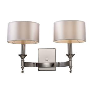 Pembroke - 2 Light Wall Sconce in Transitional Style with Luxe/Glam and Art Deco inspirations - 12 Inches tall and 19 inches wide