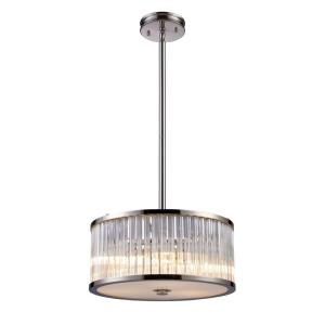 Braxton - 3 Light Chandelier in Modern/Contemporary Style with Luxe/Glam and Art Deco inspirations - 7.5 Inches tall and 16 inches wide