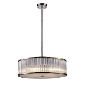 Braxton - 5 Light Chandelier in Modern/Contemporary Style with Luxe/Glam and Art Deco inspirations - 7.5 Inches tall and 24 inches wide