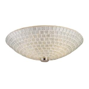 Fusion - 2 Light Semi-Flush Mount in Transitional Style with Art Deco and Boho inspirations - 4.5 Inches tall and 12 inches wide