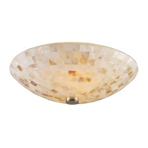 Capri - 2 Light Flush Mount in Transitional Style with Coastal/Beach and Boho inspirations - 5 Inches tall and 12 inches wide
