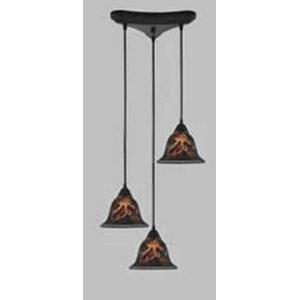 Firestorm - Three Light Triangular Pendant