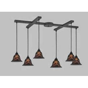 Firestorm - Six Light H-Bar Pendant