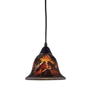 Firestorm - 9.5W 1 LED Mini Pendant in Traditional Style with Boho and Asian inspirations - 6.5 Inches tall and 7 inches wide