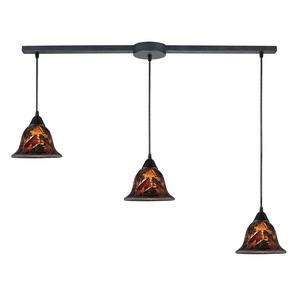 Firestorm - Three Light Linear Pendant