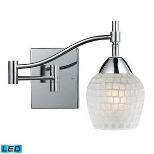 Celina - One Light Mosaic Glass Tile Swingarm Wall Sconce