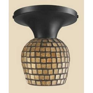 Celina - One Light Mosaic Tile Glass Semi-Flush Mount