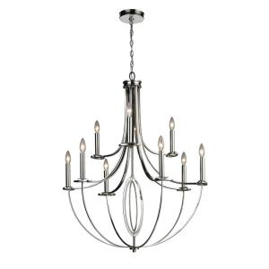 Dione - 9 Light Chandelier in Transitional Style with Luxe/Glam and Art Deco inspirations - 40 Inches tall and 32 inches wide
