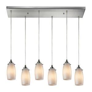 Favelita - Six Light Rectangular Pendant