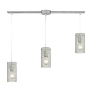 Ice Fragments - 3 Light Linear Pendant in Transitional Style with Coastal/Beach and Eclectic inspirations - 8 Inches tall and 5 inches wide