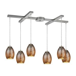 Venture - Six Light H-Bar Pendant