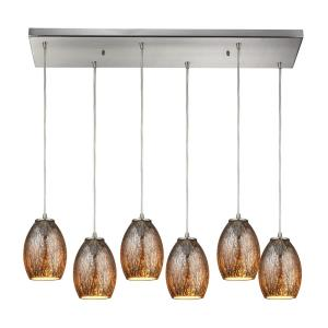 Venture - Six Light Rectangular Pendant