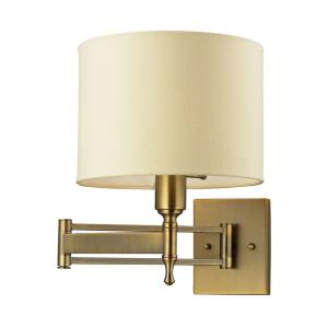 Pembroke - 1 Light Swingarm Wall Sconce in Transitional Style with Luxe/Glam and Art Deco inspirations - 14 Inches tall and 10 inches wide