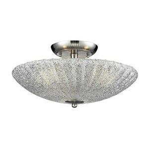 Luminese - Three Light Semi-Flush Mount
