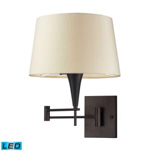 Swingarms - 9.5W 1 LED Swingarm Wall Sconce in Transitional Style with Art Deco and Retro inspirations - 16 Inches tall and 12 inches wide