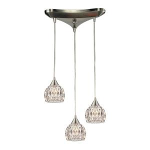 Kersey - 3 Light Chandelier in Modern/Contemporary Style with Luxe/Glam and Boho inspirations - 6 Inches tall and 5 inches wide
