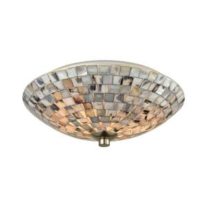 Cappa Shells - Two Light Flush Mount