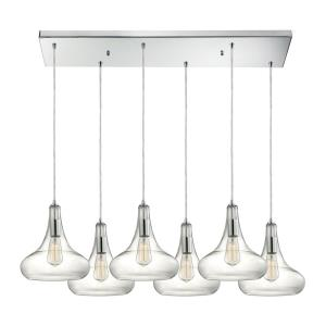 Orbital - Six Light Rectangular Pendant