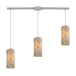 Capri - 3 Light Linear Pendant in Transitional Style with Coastal/Beach and Boho inspirations - 10 Inches tall and 5 inches wide