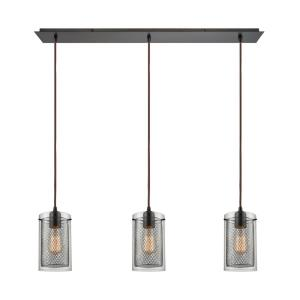 Brant - 3 Light Linear Mini Pendant in Transitional Style with Urban/Industrial and Modern Farmhouse inspirations - 10 Inches tall and 36 inches wide