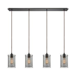 Brant - 4 Light Linear Pendant in Transitional Style with Urban/Industrial and Modern Farmhouse inspirations - 10 Inches tall and 46 inches wide
