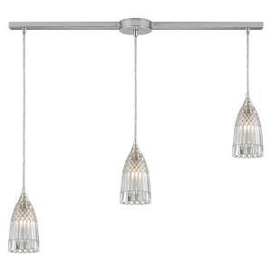 Kersey - 3 Light Linear Pendant in Modern/Contemporary Style with Luxe/Glam and Boho inspirations - 8 Inches tall and 5 inches wide