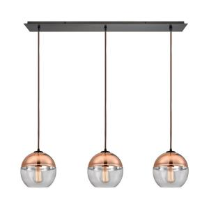 Revelo - 3 Light Linear Mini Pendant in Modern Style with Luxe and Mid-Century Modern inspirations - 9 Inches tall and 36 inches wide
