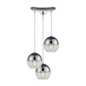 Revelo - Three Light Triangular Pendant