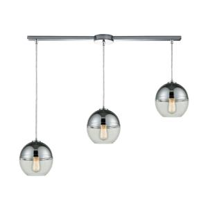 Revelo - 3 Light Linear Mini Pendant in Modern Style with Luxe and Mid-Century Modern inspirations - 9 Inches tall and 38 inches wide