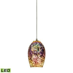 Illusions - 9.5W 1 LED Mini Pendant in Modern/Contemporary Style with Boho and Eclectic inspirations - 9 Inches tall and 4 inches wide