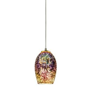 Illusions - 1 Light Mini Pendant in Modern/Contemporary Style with Boho and Eclectic inspirations - 9 Inches tall and 5 inches wide