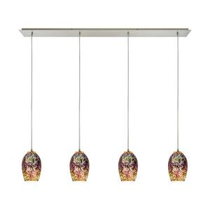 Tallula - 4 Light Linear Pendant in Modern/Contemporary Style with Boho and Eclectic inspirations - 9 Inches tall and 46 inches wide
