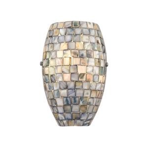 Capri - 1 Light Wall Sconce in Transitional Style with Coastal/Beach  and Eclectic  inspirations - 8 Inches tall and 6 inches wide