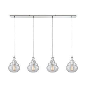 Tabor - 4 Light Linear Pendant in Modern/Contemporary Style with Retro and Mid-Century Modern inspirations - 11 Inches tall and 46 inches wide