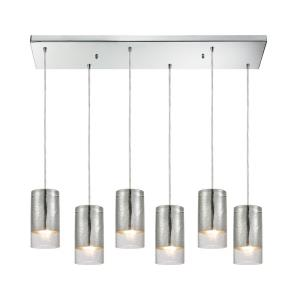 Tallula - 6 Light Rectangular Pendant in Modern/Contemporary Style with Art Deco and Luxe/Glam inspirations - 8 Inches tall and 32 inches wide