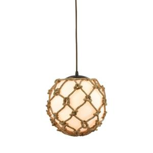 Coastal Inlet - 1 Light Mini Pendant in Transitional Style with Coastal/Beach and Modern Farmhouse inspirations - 11 Inches tall and 11 inches wide