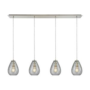 Lagoon - 4 Light Linear Pendant in Modern/Contemporary Style with Retro and Coastal/Beach inspirations - 9 Inches tall and 46 inches wide