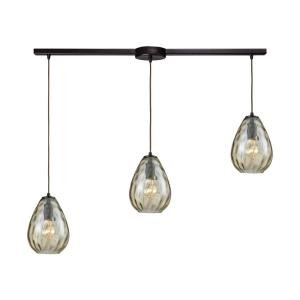 Lagoon - 4 Light Linear Pendant in Modern/Contemporary Style with Retro and Coastal/Beach inspirations - 9 Inches tall and 36 inches wide
