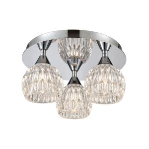 Kersey - 3 Light Semi-Flush Mount in Modern/Contemporary Style with Luxe/Glam and Boho inspirations - 6 Inches tall and 12 inches wide