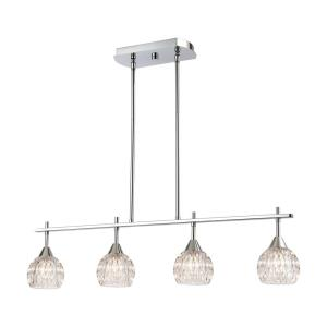 Kersey - 4 Light Island in Modern/Contemporary Style with Luxe/Glam and Boho inspirations - 8 Inches tall and 34 inches wide