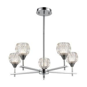 Kersey - 5 Light Chandelier in Modern/Contemporary Style with Luxe/Glam  and Boho  inspirations - 8 Inches tall and 24 inches wide