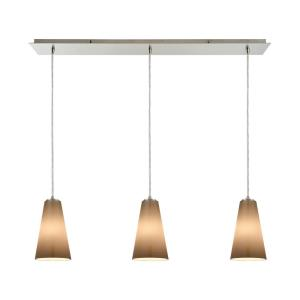 Connor - 3 Light Linear Mini Pendant in Transitional Style with Art Deco and Coastal/Beach inspirations - 11 Inches tall and 36 inches wide