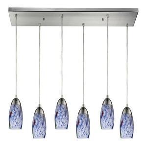 Milan - Six Light Rectangular Pendant