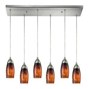 Milan - Six Light Rectangular Pendant